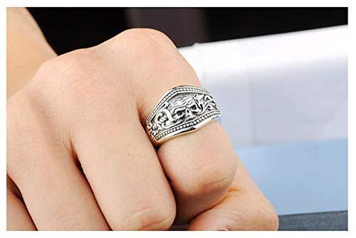 RXSHOUSH Anillo de compromiso para hombre, plata S925, para hombre y mujer, regalo de novio, 20#
