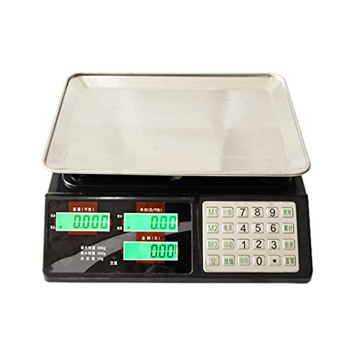 Leixin Ladder voor lichaamsvet, elektronische weegschaal, knop met hoge precisie, van staal, platform 30 kg, verkoopprijs stad pound tafel, gewicht 1G2 gram groenten, 30 kg/10 kg