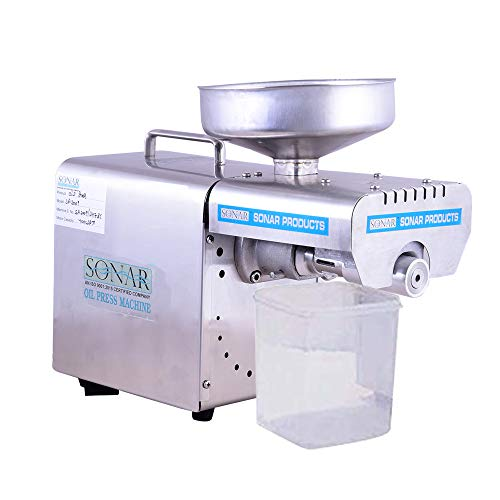 SONAR Domestic Oil Press Machine S.A-2007 (Cold Press oil Machine) Oil Press Machine for Multi Purposes/Oil extractor Stainless Steel Pressing Machine/Advanced Food Grade Stainless Steel/Light Weight