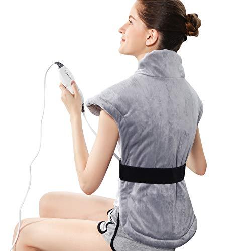 Revix Heizkissen für Rücken, Nacken und Schulterschmerzen, extra groß, 61 x 76 cm, elektrische Heizkissen mit...