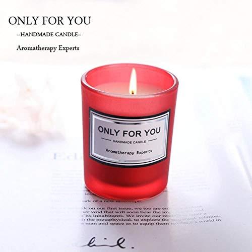 La aromaterapia cilíndrica sin Humo Vela romántica Velas perfumadas Fragancia Limpiador de Aire del Aroma del Regalo de cumpleaños de la Boda,C