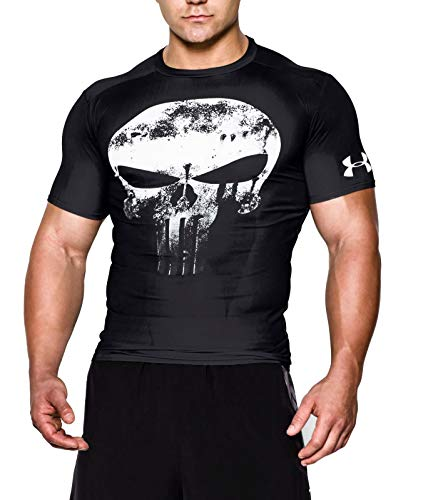 Under Armour Alter Ego Comp Punisher Team, T-Shirt, Uomo, Nero (Black/White 002), M