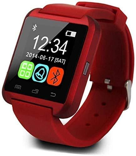 JIAJBG Fitness Tracker Pulsera Inteligente Bluetooth Tarjeta De Llamada Reloj Niño Ritmo Cardíaco Pasos Ejercicio Rojo Deporte Fitness Tracker