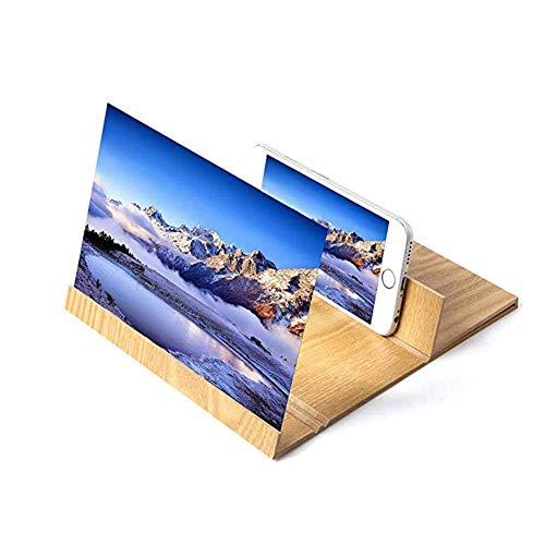 DLHXD Lupa de Pantalla de teléfono móvil 3D de 12 '', Lupa de Madera Avanzada para Smartphone, para Cualquier Lupa de Smartphone para Cualquier ocasión, A