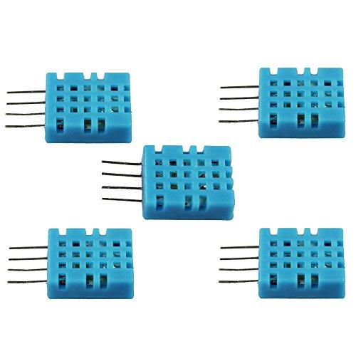 com-four® Sensor Digital de Humedad y Temperatura 5X DHT11 Sensor para Raspberry y Arduino (DHT11-2 Piezas)