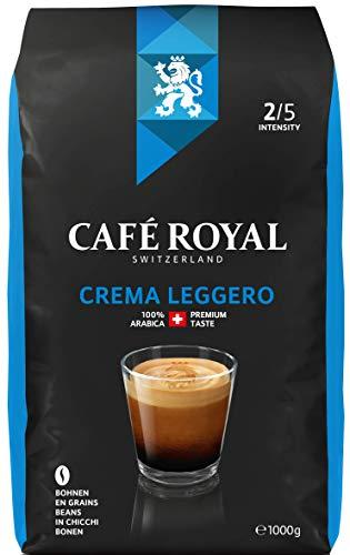 Café Royal Crema Leggero Bohnenkaffee 1kg, 1er Pack (1 x 1000 g), Intensität 2/5
