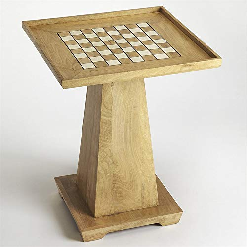 Beaumont Lane Mango Wood Solid Chess Table in Natural