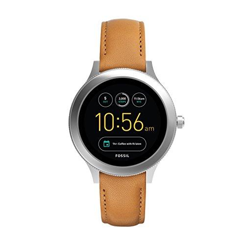 Fossil Smartwatch Touchscreen Connected Donna con Cinturino in Acciaio Inossidabile FTW6007, Marrone