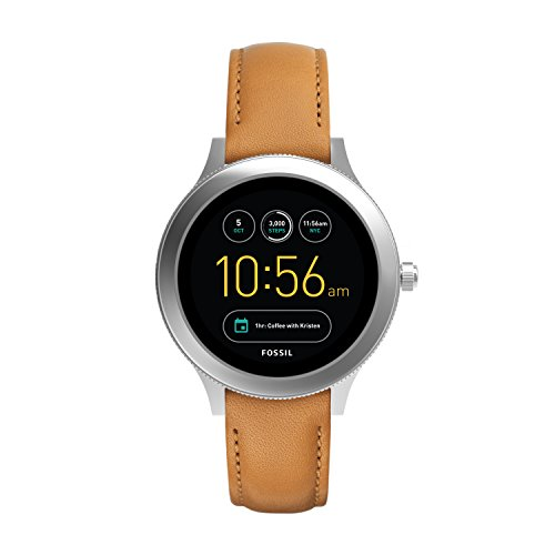 Fossil Damen Touchscreen Connected Smartwatch mit Leder Armband FTW6007