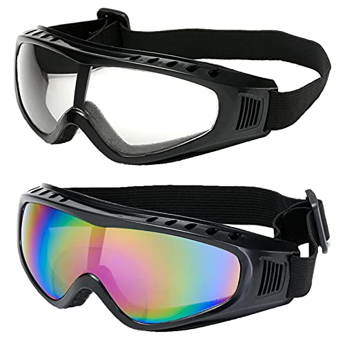 Gafas De Esquí Gafas Patinaje Gafas Resistentes a Impactos Gafas Elásticas Ajustables a Prueba De Viento Gafas De Moto Antivaho Snowboard Lente Anti Vaho Gafas Tácticas Andar En Bicicleta, Pescar