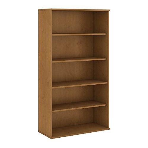 Bush Business Furniture 72H 5 Shelf Bookcase - Natural Cherry 36W X 15D X 72H Ergonomichome American Made TAA Compliant