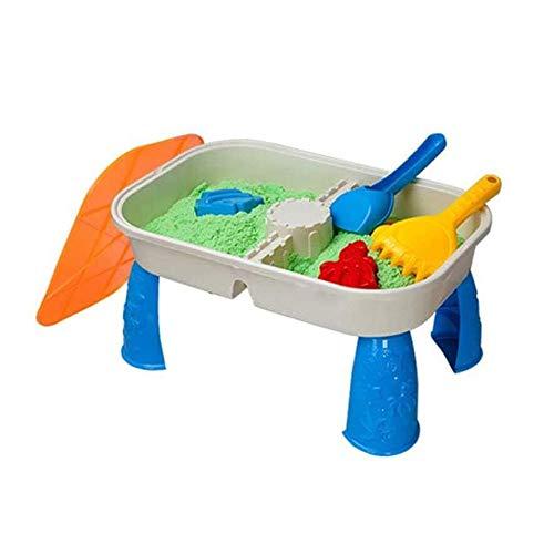 Angelay-Tian Juguetes de Arena y Playa, Play Outdoor Jardín Sandpit para Playa de Verano al Aire Libre Playa de Arena y Agua Mesa de Juego con Tapa y Accesorios