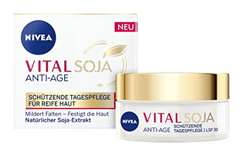 NIVEA  Vital Soja Anti-Age Tagespflege im 1er Pack (1 x 50 ml), Tagescreme mit LSF 30 und...