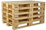 IPPC Europalette NEU - 5 Paletten aus Vollholz - Holzpaletten Maße: 120x80 cm - Fabrikneu
