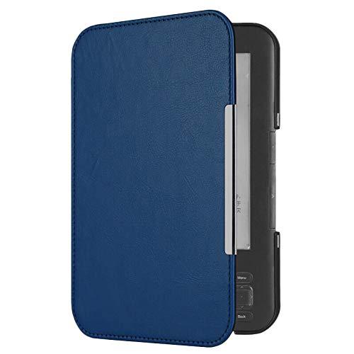 Huante PU Cuero Flip Folio Cubierta MagnéTica de Libro ElectróNico para Amazon 3 3Er Lector Pantalla de Teclado EReader Funda Protectora Azul