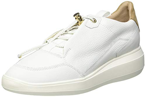 GEOX D RUBIDIA B WHITE/TOBACCO Women's Trainers Low-Top Trainers size