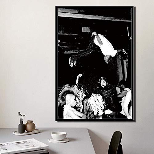 60 cm NVRENHUA Leinwand Malerei Basquiat Moderne K/ünstler Graffiti Abstrakte Wohnkultur Wandkunst Bilder Poster HD Drucke Geschenk Ohne Rahmen 42