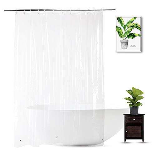 WellColor Clear Shower Curtain Liner 72 x 75 inch, PEVA...