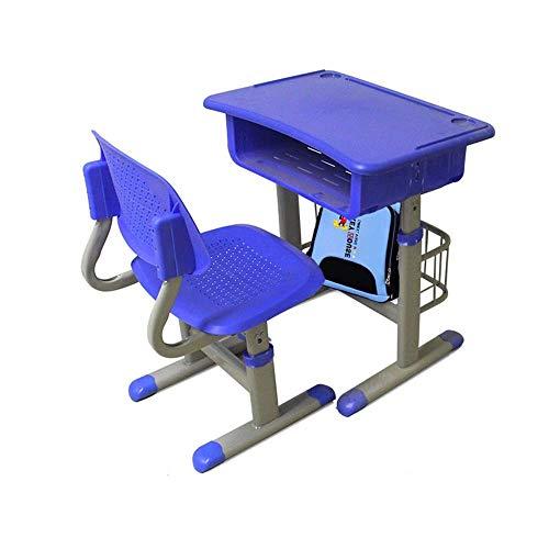 Estación de trabajo silla for niños Escritorio Juego de sillas for niños Estudio Escritorio Silla Juego de mesa inclinable Mesa for el arte de los niños de madera Juego de mesa de altura ajustable Zix