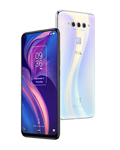 TCL Smartphone 'TCL PLEX' 128 GB (16,59 cm (6,53 Zoll) FHD+ LCD LTPS-IPS Display, Triple-Hauptkamera, 24MP Frontkamera, 6 GB RAM, Dual-SIM, Android 9), Opal White