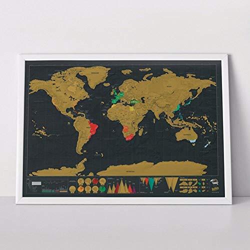 Hotaden Erase Nero Travel Edition Scratch off World Map Poster Personalizzata Ufficiale Camera della Decorazione della Casa Adesivi Murali Dropship