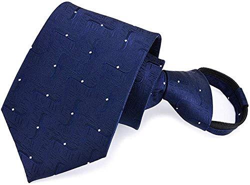 APcjerp Herrenkrawatten Einstecktücher Herren-Krawattennadeln Geschenk-Kasten der Männer 8Cm Zip Tie-Kleid Geschäft Faul Krawatte Brosche Krawatte Fünf-teiliges Set Clip