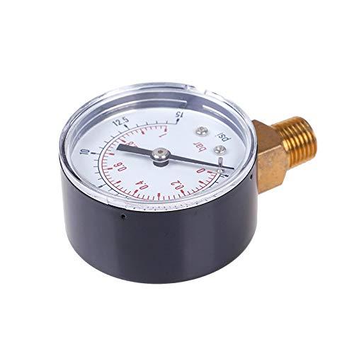 YINGGEXU Medidor de presión de 22/25/40 / 50mm diámetro medidor de presión Baja presión para Gasolina de Gas de Combustible medición de Gases de Agua de Agua (Pressure Range : TS 50 15psi)