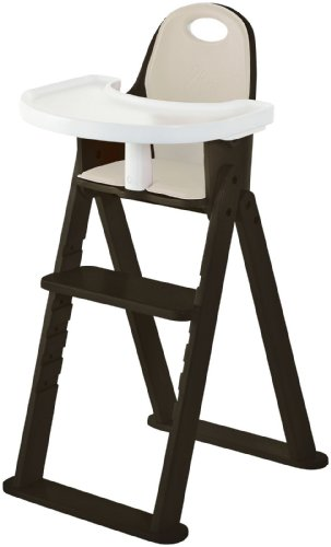 High Chair –Svan Baby to Booster Bentwood Folding Chair with Removable Cushion (6 months – 5 years) (Espresso)