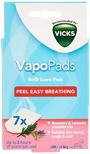 Vicks VBR7 Rosemary and Lavender VapoPads Refill - Pack of 7