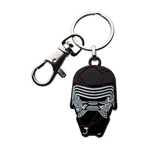 Star Wars: The Rise of Skywalker, Unisex-Erwachsene, Star Wars Episode 9 Kylo Ren Broken Maske mit Edelstahl Schlüsselanhänger, Silber, Schwarz, Einheitsgröße