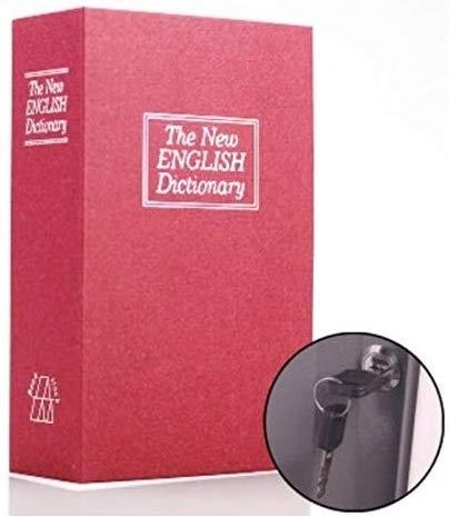 オリオン本舗 本型金庫 辞書型金庫 隠し金庫 ユニーク 鍵型 防犯 本棚 大人気文房具 プレゼント 面白いデザイン おもしろ へそくり 隠蔽 赤