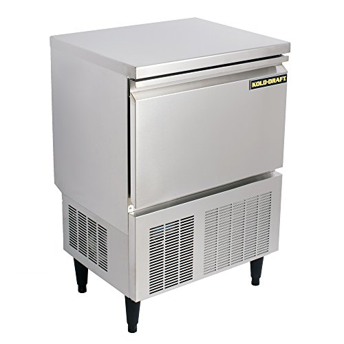 Kold Draft KD-110 Commercial and Residential Clear Ice Maker Machine Produces Up to 118 Pounds Per Day of Large Tophat Cubes 1in x 1in x 1.25in for Premium Cocktails and Beverages, 24.8in Wide, Silver