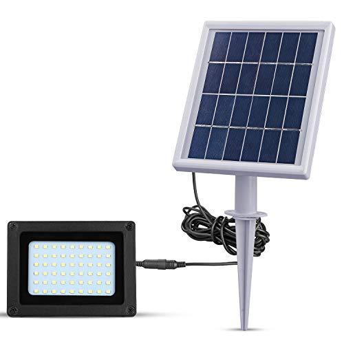 LED Solar Flutlicht für Außenbereich 54 LEDs 300 LM Solarlampe Flutlichter LED-Leuchten für Garten