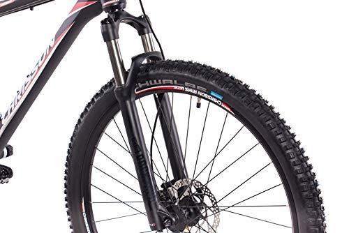 CHRISSON 29 Zoll Mountainbike Fully - Hitter FSF schwarz rot - Vollfederung Mountain Bike mit 30 Gang Shimano Deore Kettenschaltung - MTB Fahrrad für Herren und Damen mit Rock Shox Federgabel - 6