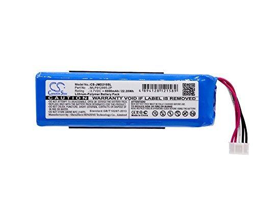 Cameron Sino 6000mAh Li-Polymer Battery For JBL Charge 2+, Charge Plus, fits JBL MLP912995-2P