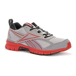 Reebok Herren-Laufschuhe Rincon Trail Running Sportschuhe–Grau/Rot, Grey,Red