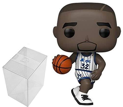 Funko POP! NBA: Legends - Shaquille Oneil (Magic Home) - Paquete con 1 protector PopShield Pop Box