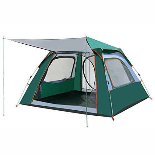 Dorling Kindersley Multimedia - DK Tenda Outdoor 3-4 Persone Ombrellone Automatico Campeggio Doppio 2 Persone Spesse Antipioggia Protezione Solare Selvaggio,Green