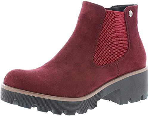 Rieker Damen Stiefel 99284, Frauen Winterstiefel, Winter-Boots halbschaftstiefel gefüttert warm weibliche Lady,vino,39 EU / 6 UK