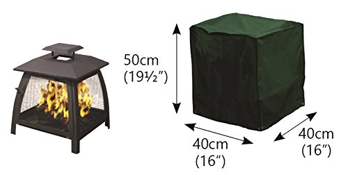 UNDER COVER PATIO ARMOR Small Square Fire Pit Cover - Height 50cm x Width 40cm