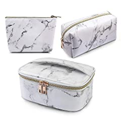 3 Different Styles: MAGEFY makeup bag set come with a large marble makeup bag and a moderate cosmetic bag and a small one. Different styles and sizes meet your different needs. Plenty of Storage Space: This make up bag set is big enough to hold your ...