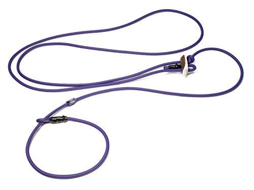 Mystique® Biothane Hunting Profi lautlos Umhängeleine 280cm Moxon mit Zugbegrenzung (6mm, lila (6mm))