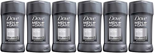 Dove Men+Care Antiperspirant Stick, Cool Silver, 2.7 Ounce (Pack of 6)