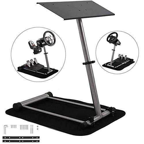 Mophorn Racing Steering Wheel Stand 360 Degree Stepless Adjustable fit for Logitech G25 G27 G29 G920 fit for Thrustmaster Racing Simulator Steering Wheel Stand Frame Video Game Racing Wheel Stand Chairs Dining Features Game Home Kitchen Video