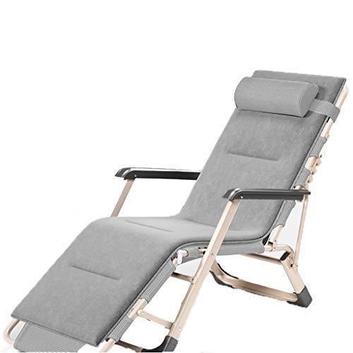 Draagbare campingstoel Beste gewatteerde klapstoel Oversized patio chaise lounge stoel opvouwbare w / 3 verstelbaar en afneembaar kussen buiten strandstoel voor buitenstrand zwembad Lichtgewicht buite