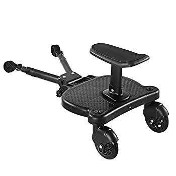 GemonExe Universal 2in1 Stroller Ride Board with Detachable Seat,Stroller Glider Board Suitable for Most Brands of Strollers Holds Children Up to 55lbs