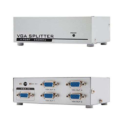 NANOCABLE 10.25.0004 - Duplicador SVGA para 4 monitores con alimentacion
