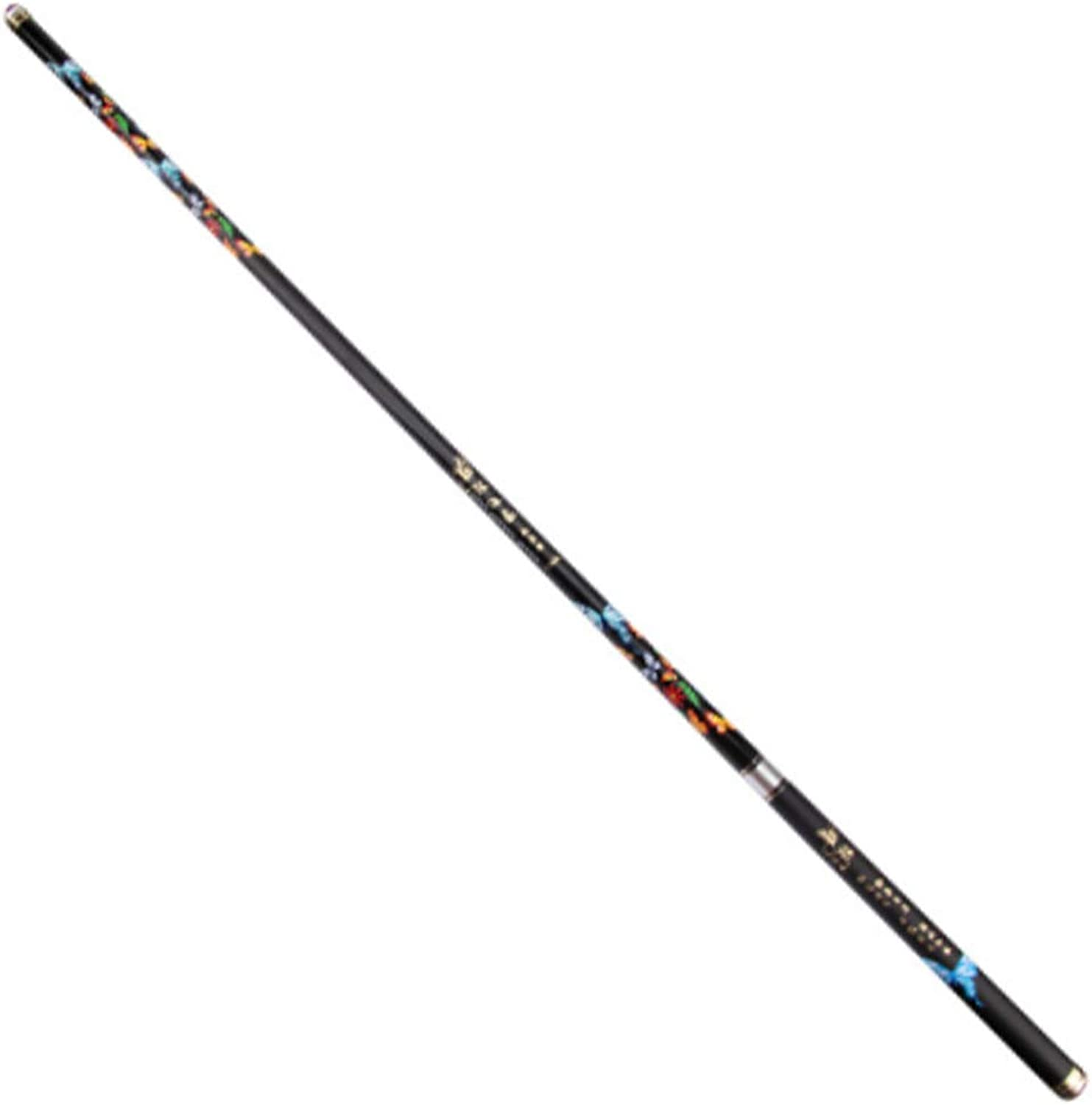 HYYQG Kohlefaser Casting Rod Teleskop Tragbare Angelrute 2,1-3,6 Mt Super Light Hard Stream Ultraleicht Pole Super Hard Karpfenruten
