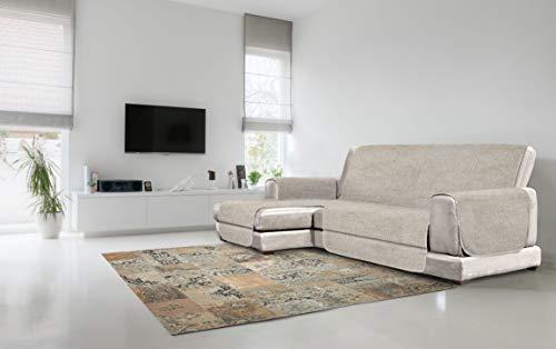 Cubierta de sofá Anti-Deslizamiento Confort con chaiselongue, Beige, 290cm