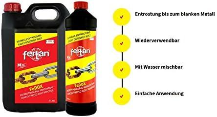 Fertan Rostentferner Rostkonverter Der Perfekte Rostumwandler Inkl Pinsel Von E Com24 Fertan 1 Liter Baumarkt